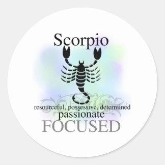 Scorpio About You Round Sticker