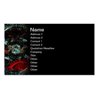 Scorpio Abstract Fractal Artwork Business Cards