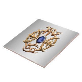 Scorpio and Pisces Medallion Large Square Tile
