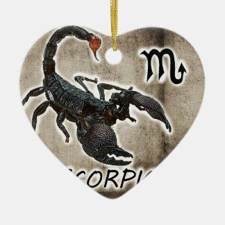 scorpio astrology 2017 ceramic heart decoration