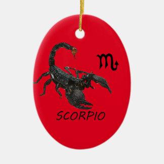 Scorpio astrology ceramic oval decoration