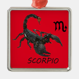 Scorpio astrology Silver-Colored square decoration