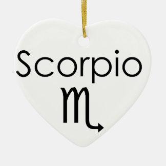 Scorpio Ceramic Heart Decoration