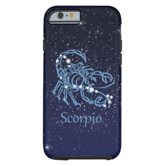 Scorpio Constellation and Zodiac Sign with Stars Tough iPhone 6 Case