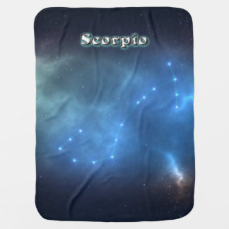 Scorpio constellation baby blanket