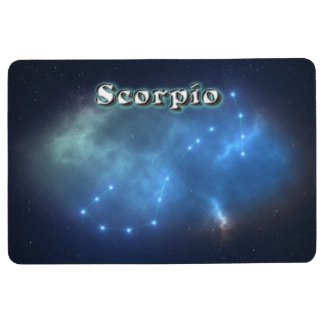 Scorpio constellation floor mat