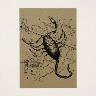 Scorpio Constellation Hevelius 1690 Decor Business Card