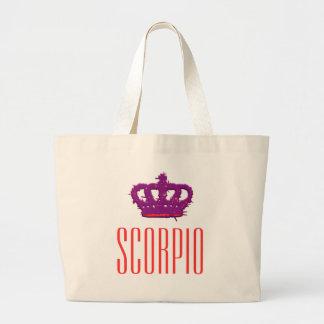 Scorpio Crown Jumbo Tote Canvas Bag