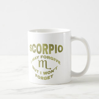 Scorpio Forgive But Don't Forget Coffee Cup / Mug