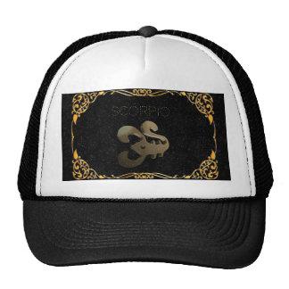 Scorpio golden sign cap