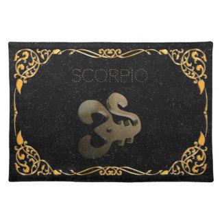 Scorpio golden sign placemat