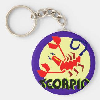 Scorpio Horoscope Sign Key Chain