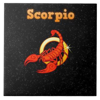 Scorpio illustration tile