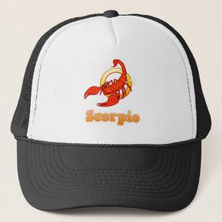 Scorpio illustration trucker hat