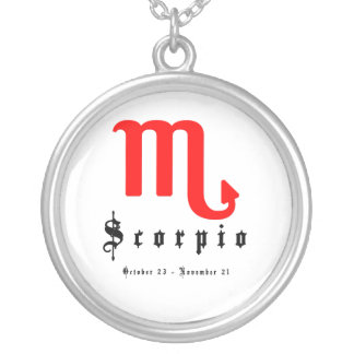 Scorpio, October 23 - November 21 Silver Plated Necklace