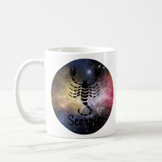 Scorpio On Space Background Coffee Mug
