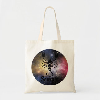 Scorpio On Space Background Tote Bag