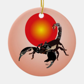 Scorpio ornamentation ceramic ornament