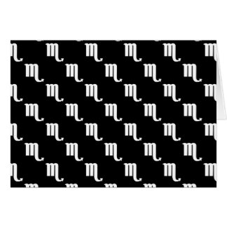 Scorpio Pattern Black and White Card
