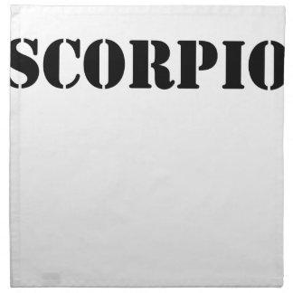 scorpio printed napkin