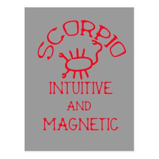 Scorpio (Red Text) Postcard
