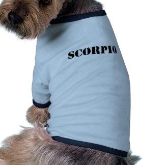 scorpio ringer dog shirt