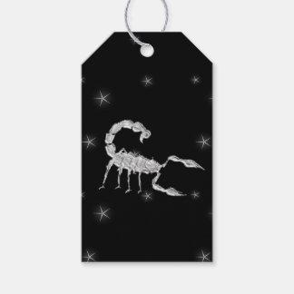 Scorpio Scorpion Zodiac Design Black Gift Tags
