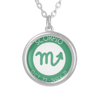 Scorpio Silver Plated Necklace
