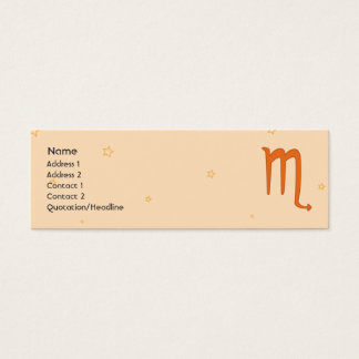 Scorpio - Skinny Mini Business Card