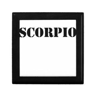 scorpio small square gift box