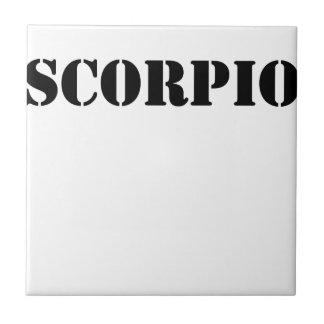 scorpio small square tile