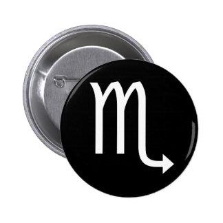 Scorpio Symbol 6 Cm Round Badge