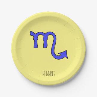 Scorpio symbol 7 inch paper plate