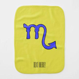 Scorpio symbol burp cloth