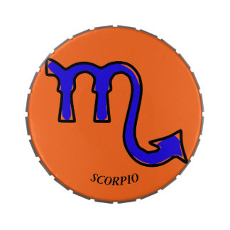 Scorpio symbol candy tins
