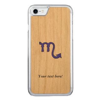 Scorpio symbol carved iPhone 7 case