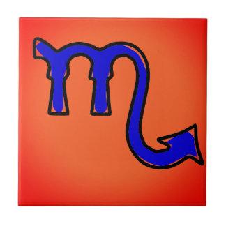 Scorpio symbol ceramic tile