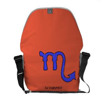 Scorpio symbol courier bag