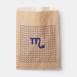 Scorpio symbol favour bag