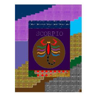 SCORPIO Symbol Insect Wild Danger Bite Scary FUN Postcard