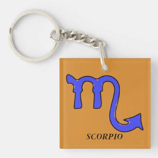 Scorpio symbol key ring