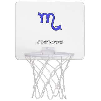 Scorpio symbol mini basketball hoop