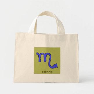 Scorpio symbol mini tote bag