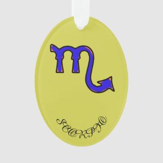 Scorpio symbol ornament