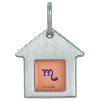 Scorpio symbol pet tag