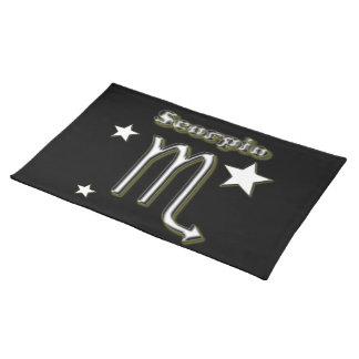 Scorpio symbol placemats