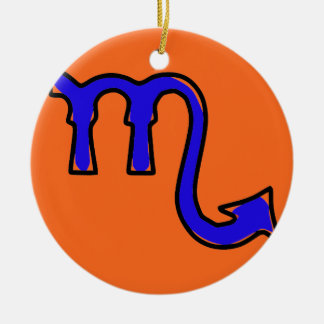 Scorpio symbol round ceramic decoration