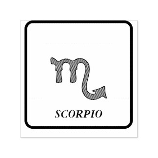 Scorpio symbol self-inking stamp