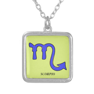 Scorpio symbol silver plated necklace