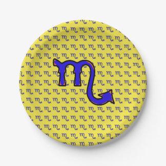 Scorpio symbol t 7 inch paper plate